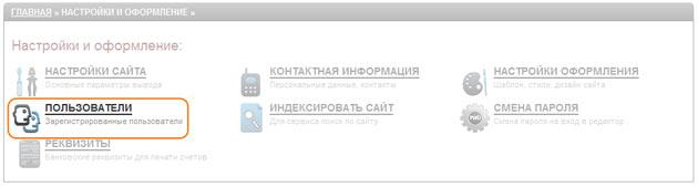 Работа с пользователями в системе управления сайтом Ural CMS